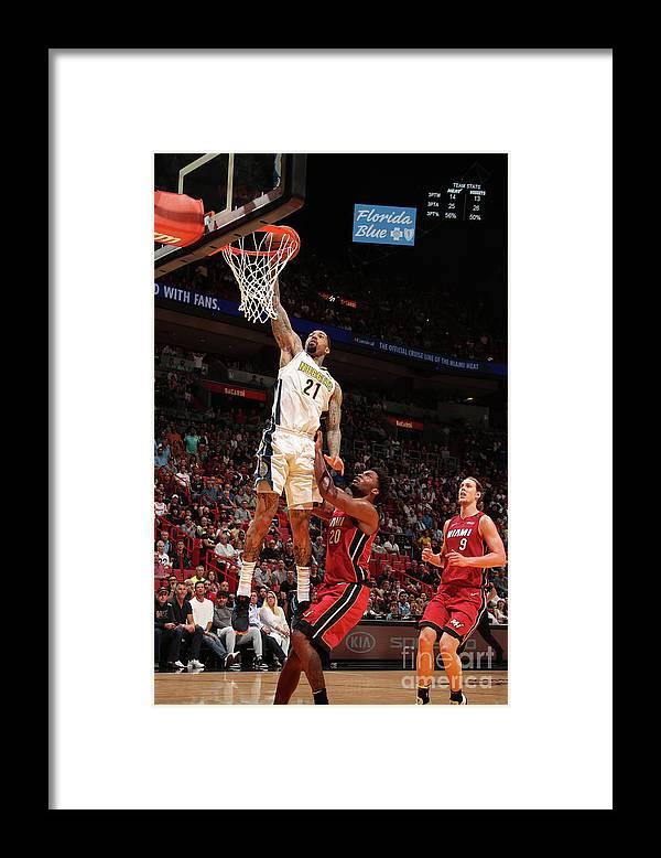 Nba Pro Basketball Framed Print featuring the photograph Wilson Chandler by Issac Baldizon