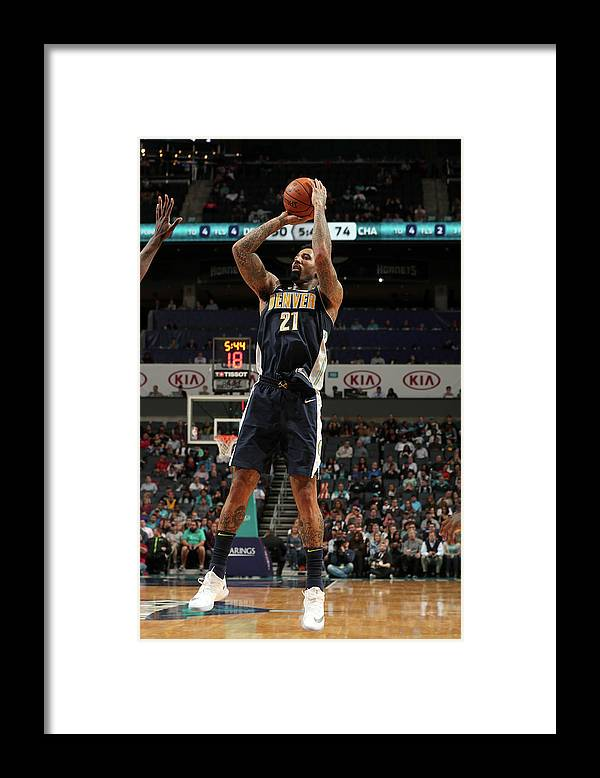 Nba Pro Basketball Framed Print featuring the photograph Wilson Chandler by Kent Smith