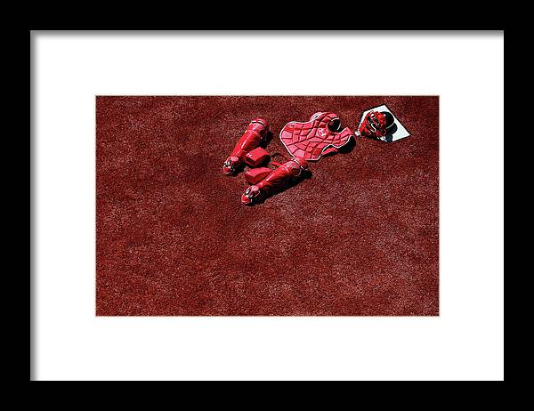 Catching Framed Print featuring the photograph Wilson Ramos by Patrick Smith