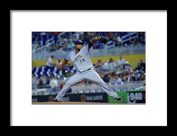 American League Baseball Framed Print featuring the photograph Wily Peralta by Chris Trotman