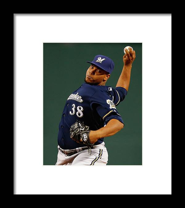 American League Baseball Framed Print featuring the photograph Wily Peralta by Jared Wickerham