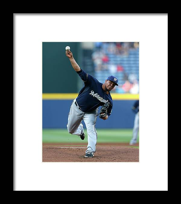 Atlanta Framed Print featuring the photograph Wily Peralta by Kevin C. Cox