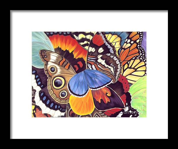 Butterflies Framed Print featuring the painting Wings Of California by Lucy Arnold