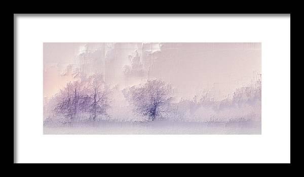 Framed Print featuring the digital art Winter landscape by Jenny Filipetti