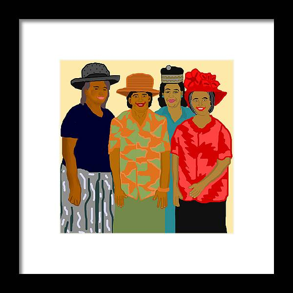 Women Framed Print featuring the painting Women of the Church by Pharris Art
