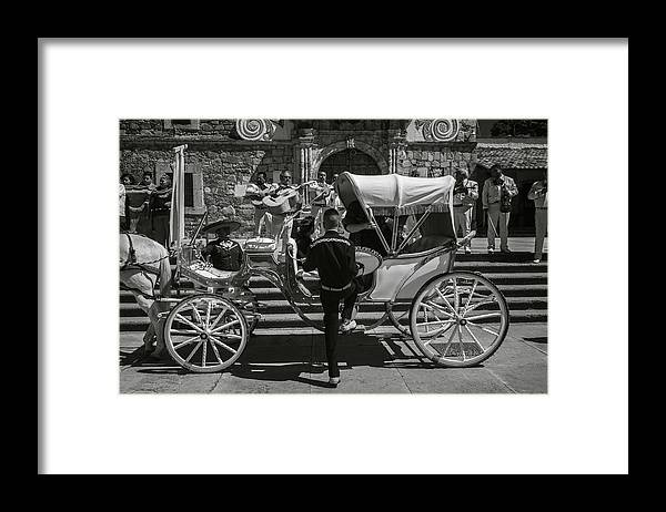 Escaramuza Framed Print featuring the photograph Wooden Carriage in Mexico by Dane Strom