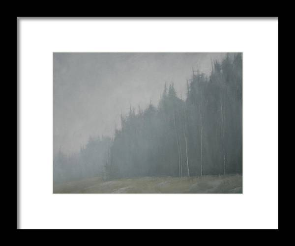 Framed Print featuring the painting Woods Whisper by Mary Jo Van Dell