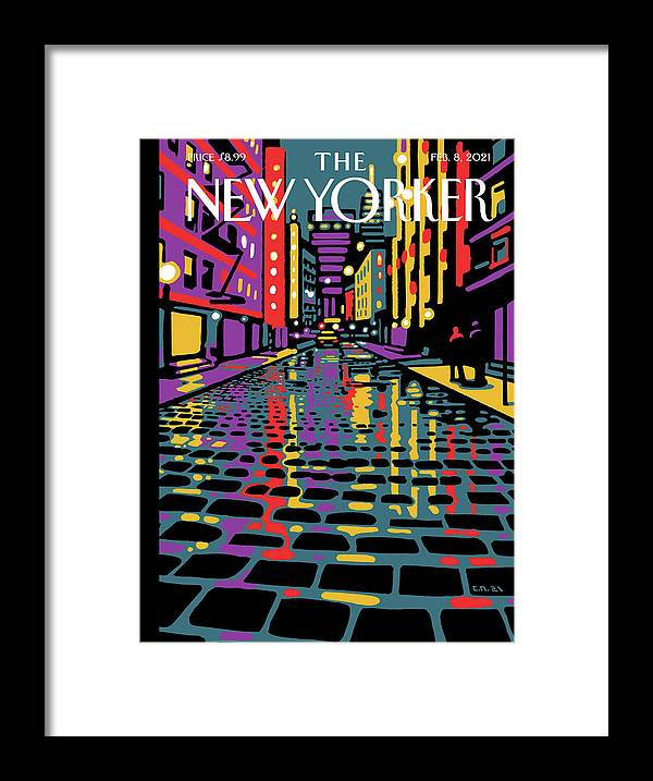 New York City Framed Print featuring the painting Wooster Street by Christoph Niemann