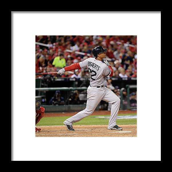 Playoffs Framed Print featuring the photograph Xander Bogaerts by Ron Vesely
