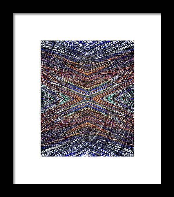 Abstract Framed Print featuring the digital art X's Spiral to the Moon by Jack Entropy