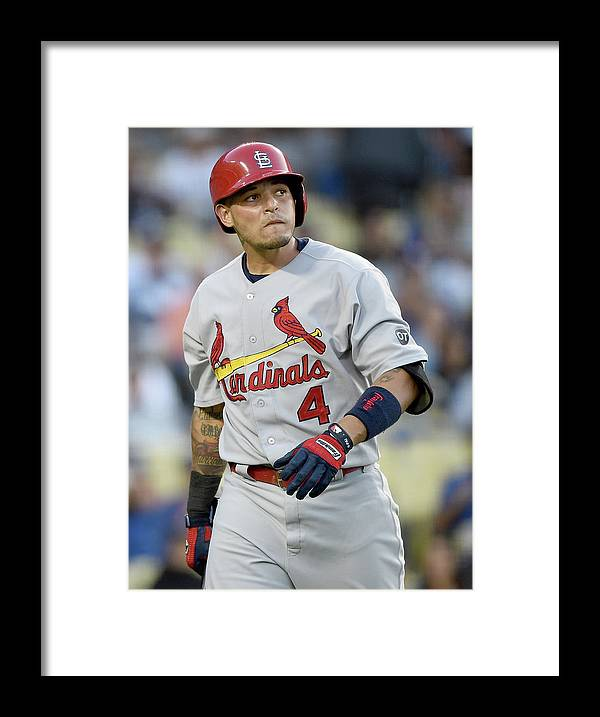 St. Louis Cardinals Framed Print featuring the photograph Yadier Molina by Harry How