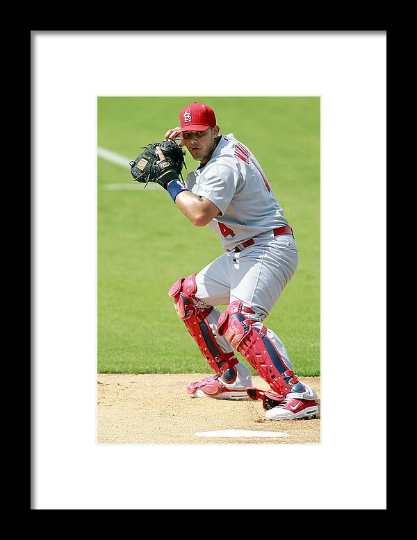 St. Louis Cardinals Framed Print featuring the photograph Yadier Molina by Marc Serota