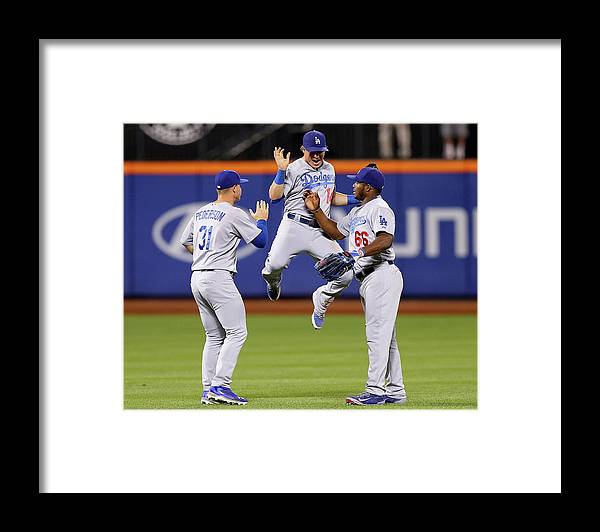 People Framed Print featuring the photograph Yasiel Puig and Joc Pederson by Elsa
