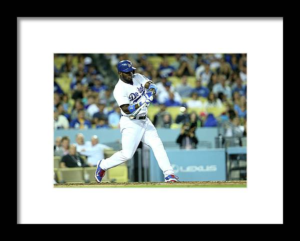 American League Baseball Framed Print featuring the photograph Yasiel Puig by Stephen Dunn