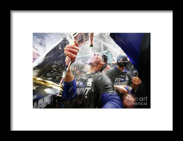 Championship Framed Print featuring the photograph Yasmani Grandal by Jamie Squire