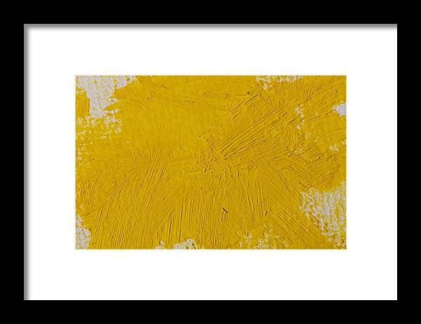 Art Framed Print featuring the photograph Yellow Paint Strokes Texture by R.Tsubin
