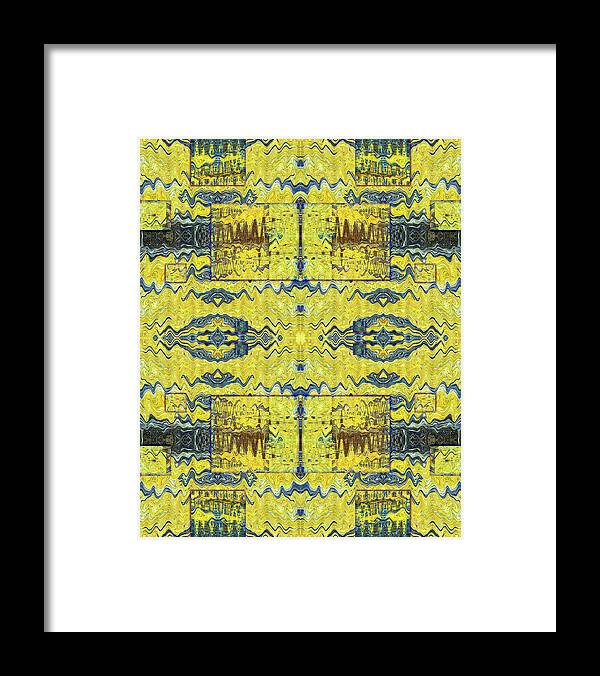 Abstract Framed Print featuring the digital art Yellow Submarine by Jack Entropy