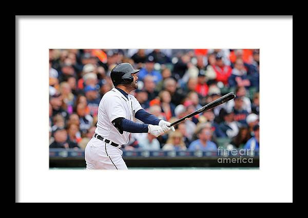 Second Inning Framed Print featuring the photograph Yoenis Cespedes and Alex Avila by Leon Halip