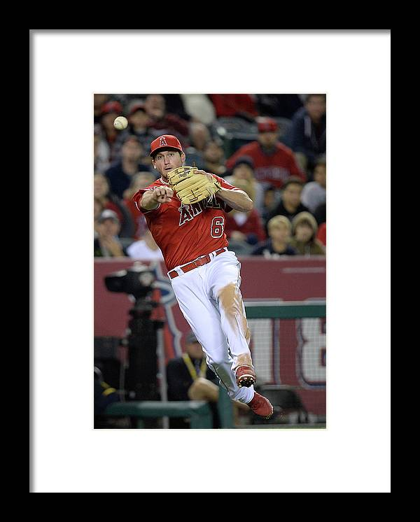 Yoenis Cespedes Framed Print featuring the photograph Yoenis Cespedes and David Freese by Harry How