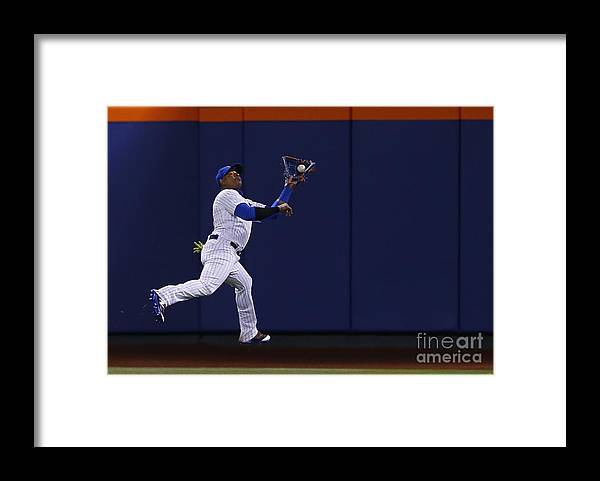 Yoenis Cespedes Framed Print featuring the photograph Yoenis Cespedes and Peter Bourjos by Rich Schultz