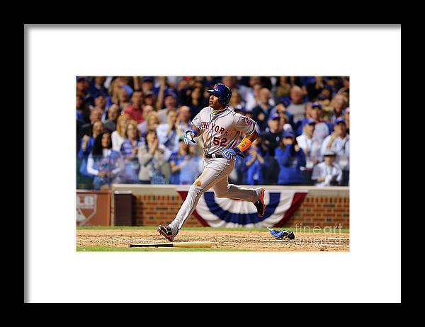 Yoenis Cespedes Framed Print featuring the photograph Yoenis Cespedes and Trevor Cahill by Elsa