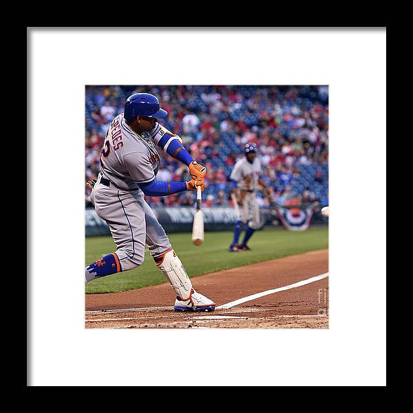 Yoenis Cespedes Framed Print featuring the photograph Yoenis Cespedes by Drew Hallowell