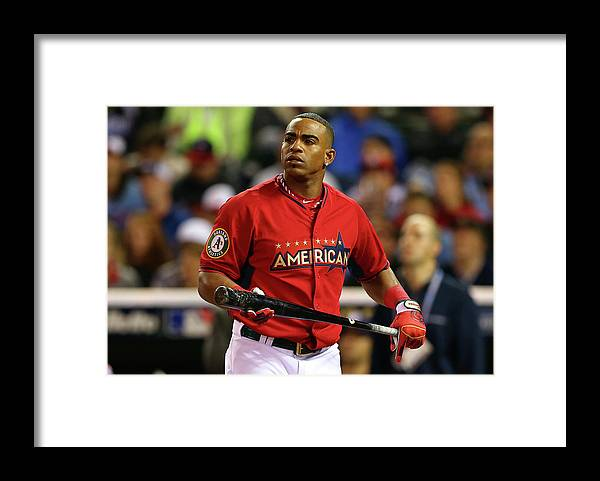 Yoenis Cespedes Framed Print featuring the photograph Yoenis Cespedes by Elsa