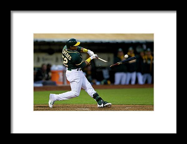 Yoenis Cespedes Framed Print featuring the photograph Yoenis Cespedes by Jason O. Watson