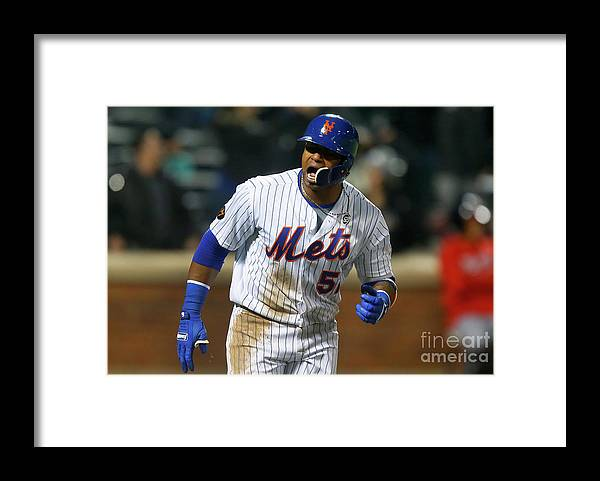 Yoenis Cespedes Framed Print featuring the photograph Yoenis Cespedes by Jim Mcisaac