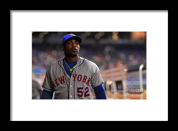 Yoenis Cespedes Framed Print featuring the photograph Yoenis Cespedes by Mike Ehrmann