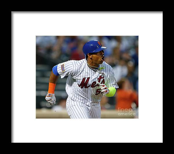 Yoenis Cespedes Framed Print featuring the photograph Yoenis Cespedes by Rich Schultz
