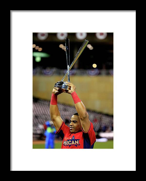 Yoenis Cespedes Framed Print featuring the photograph Yoenis Cespedes by Rob Carr