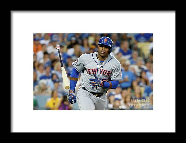 Game Two Framed Print featuring the photograph Yoenis Cespedes by Sean M. Haffey