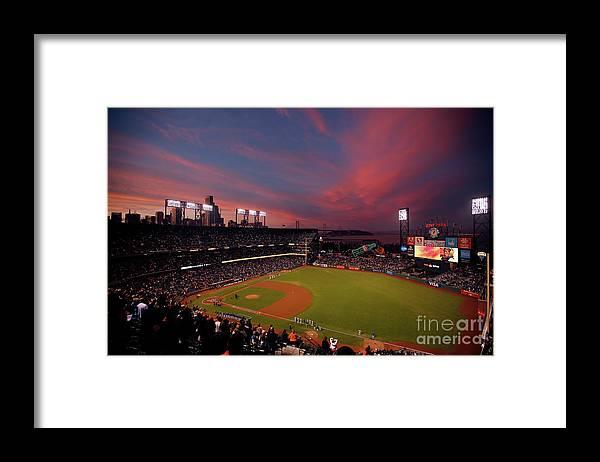 San Francisco Framed Print featuring the photograph Yogi Berra by Ezra Shaw
