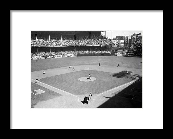 Following Framed Print featuring the photograph Yogi Berra by New York Daily News Archive