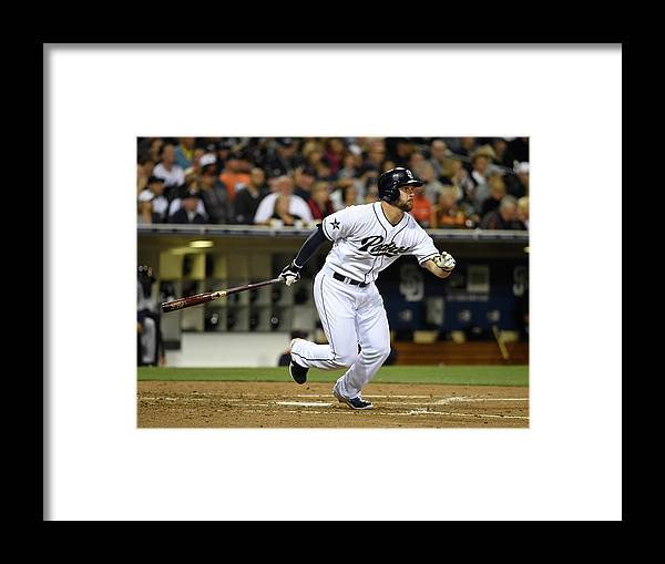 American League Baseball Framed Print featuring the photograph Yonder Alonso by Denis Poroy
