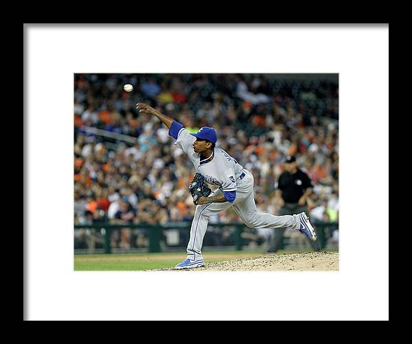 People Framed Print featuring the photograph Yordano Ventura by Duane Burleson