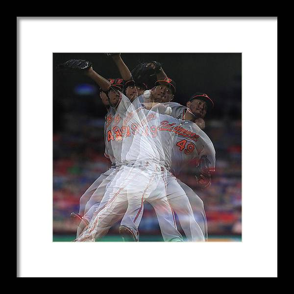 People Framed Print featuring the photograph Yovani Gallardo by Ronald Martinez