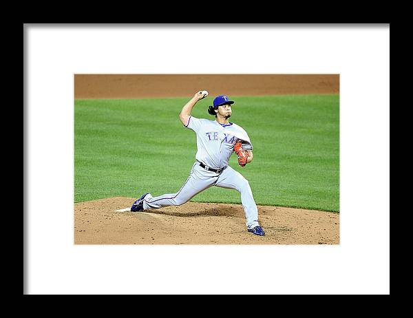 People Framed Print featuring the photograph Yu Darvish by G Fiume