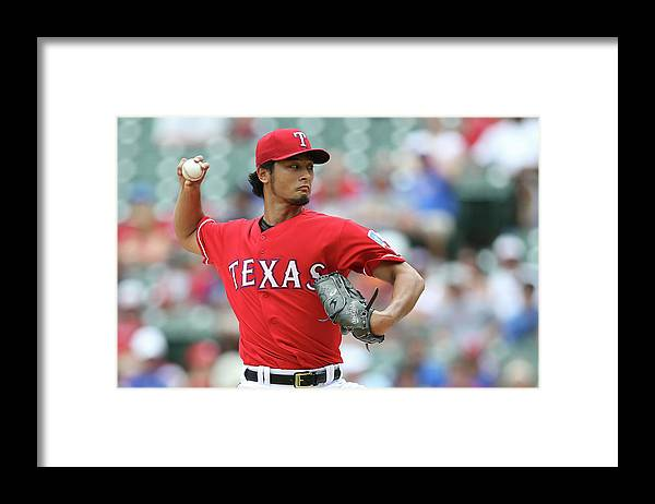 American League Baseball Framed Print featuring the photograph Yu Darvish by Rick Yeatts