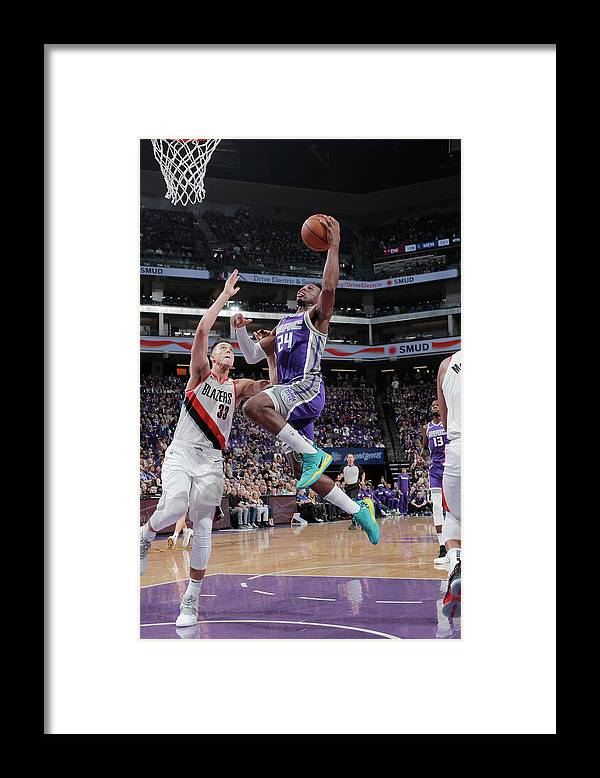 Nba Pro Basketball Framed Print featuring the photograph Zach Collins and Buddy Hield by Rocky Widner