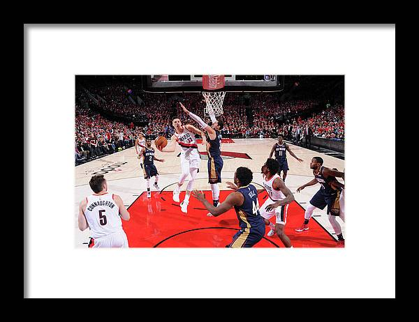 Playoffs Framed Print featuring the photograph Zach Collins by Cameron Browne