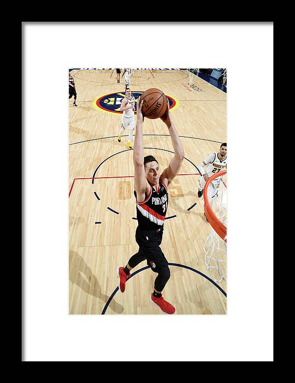 Playoffs Framed Print featuring the photograph Zach Collins by Garrett Ellwood