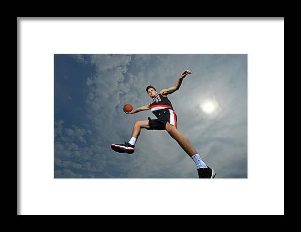 Nba Pro Basketball Framed Print featuring the photograph Zach Collins by Jesse D. Garrabrant