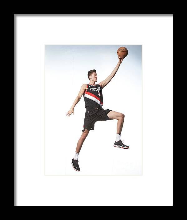 Nba Pro Basketball Framed Print featuring the photograph Zach Collins by Nathaniel S. Butler