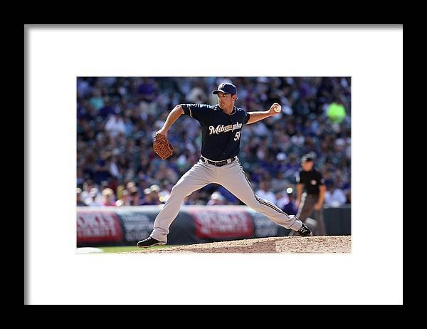 Working Framed Print featuring the photograph Zach Duke by Doug Pensinger