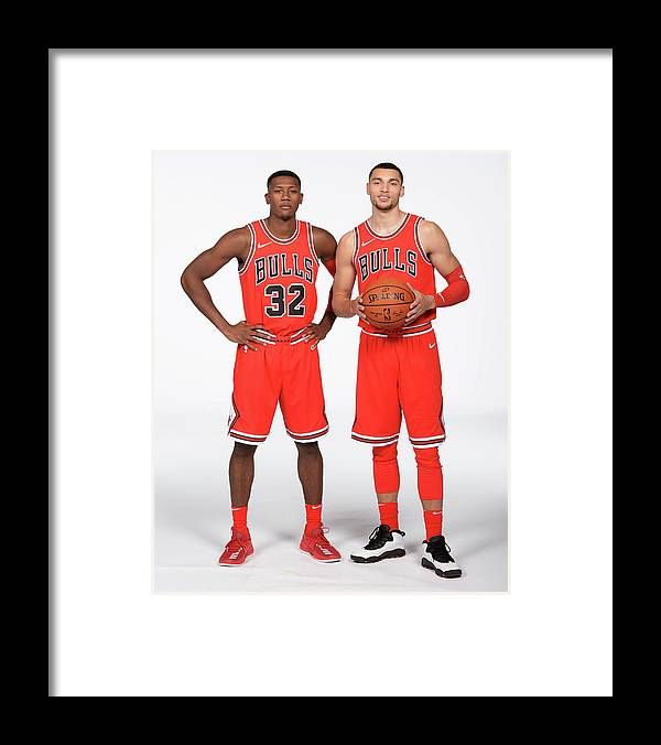 Media Day Framed Print featuring the photograph Zach Lavine and Kris Dunn by Randy Belice