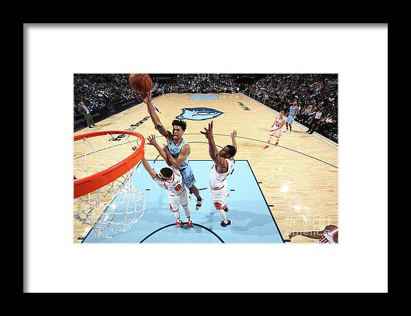 Chicago Bulls Framed Print featuring the photograph Zach Lavine and Thaddeus Young by Joe Murphy
