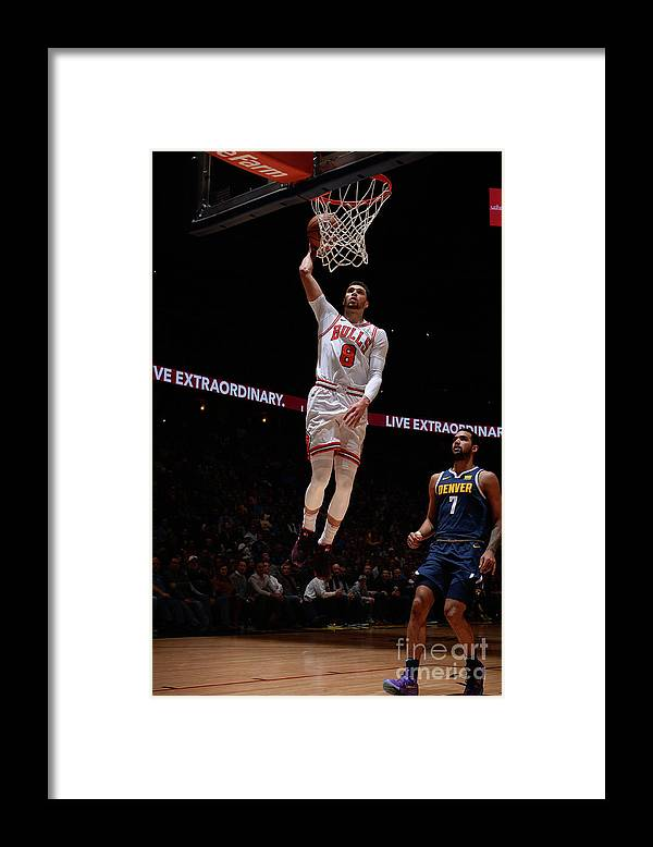 Chicago Bulls Framed Print featuring the photograph Zach Lavine by Bart Young