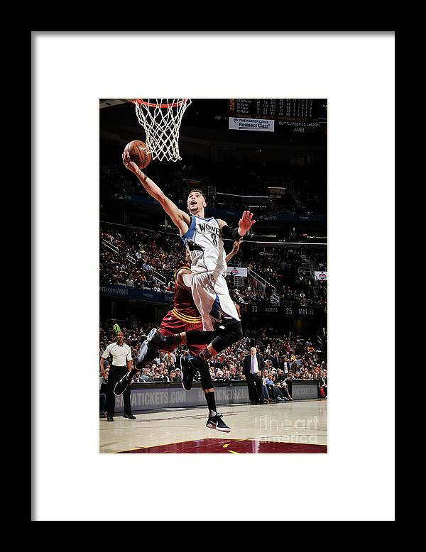 Nba Pro Basketball Framed Print featuring the photograph Zach Lavine by David Liam Kyle